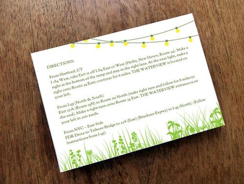 Enclosure Card - Garden Party