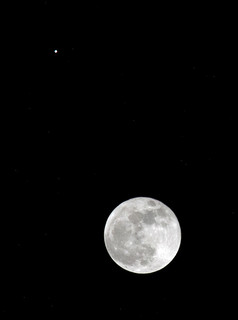Moon and Jupiter