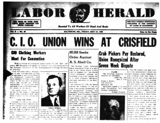 CIO Union Wins at Crisfield: 1938
