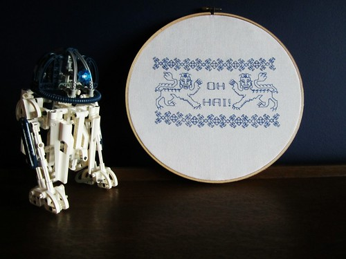 Oh hai cross stitch