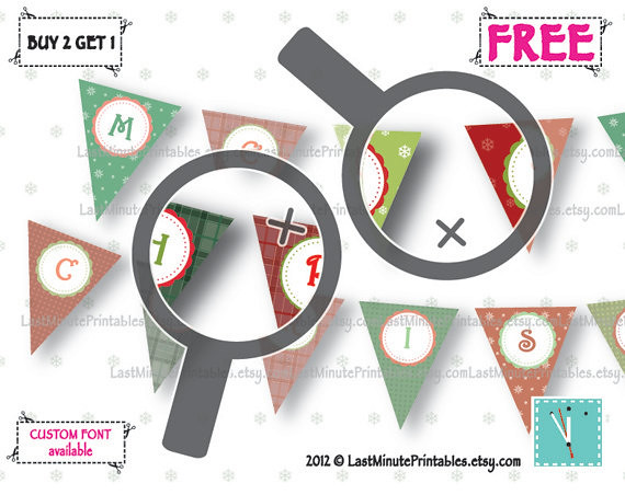 Holiday banner, christmas template, Christmas decal, christmas stencil, christmas lot, christmas bunting, banner bunting, bunting clipart 02a