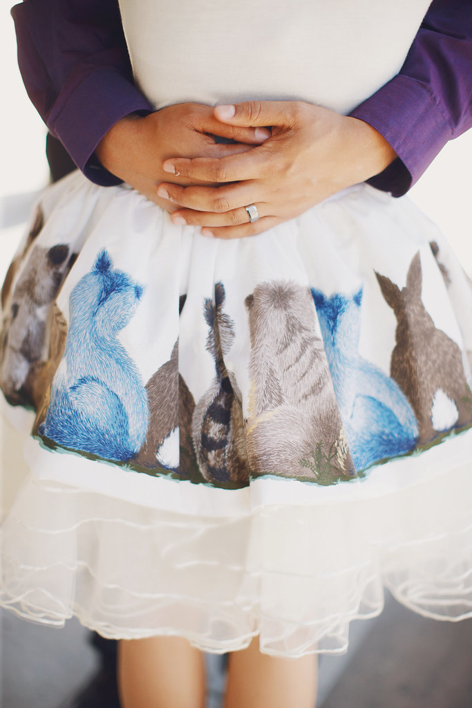 Back of the skirt, is the back of the animals.