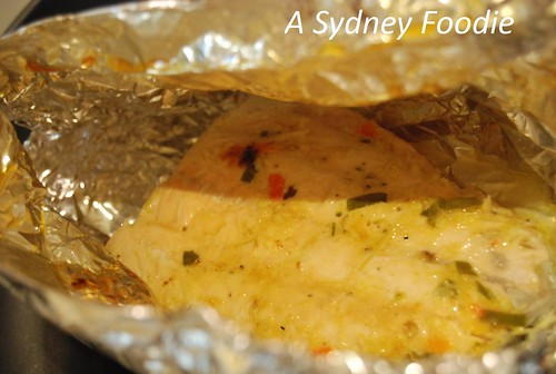 Foil grilled fish