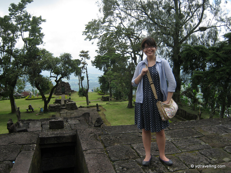 Hi from Candi Sukuh's rooftop altar