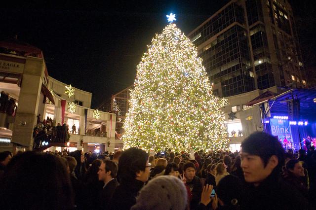 Holiday Tree Lightings In Boston