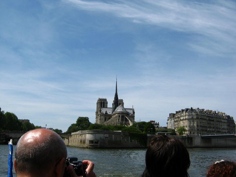Notre dame de Paris from afar