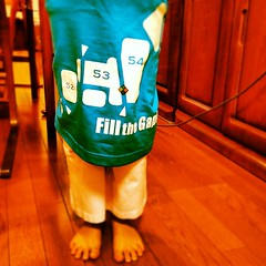 My kid in oversize #geomediasummit #tshirt w #geocaching #pin #gms_2012 #ジオキャッシング #東京 #日本 #tokyo #japan #geolocation