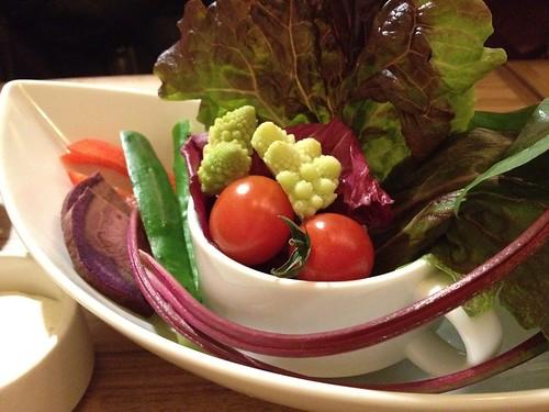 あいちゃん農園有機野菜のワイルドサラダ バーニャカウダ添え@Samurai (サムライ)