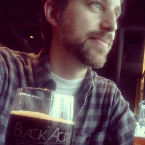 Chai tea milk stout and boyfriend at Black Acre.