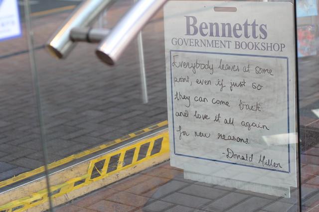 Thursday: Parliament bookshop closing