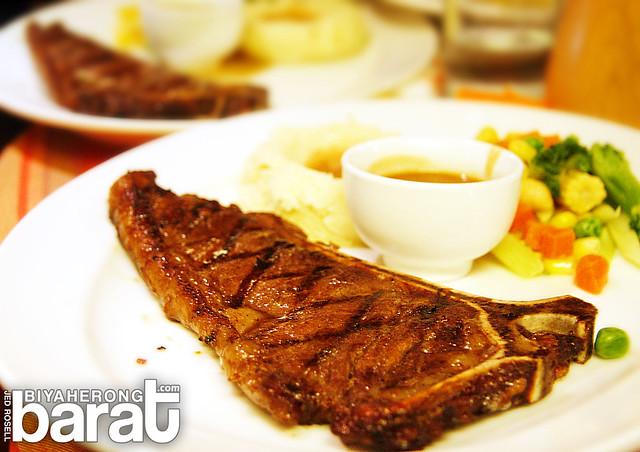 steak in arabela restaurant in liliw laguna