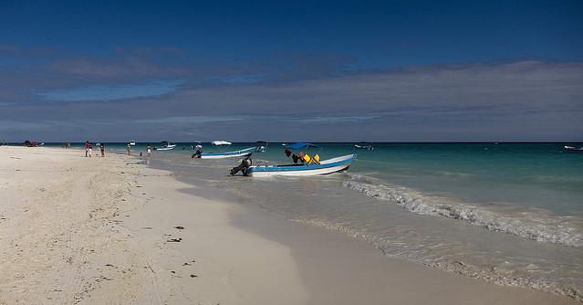 Playa Paraiso, cerca de las ruinas Maya de Tulum