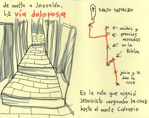 Via Dolorosa. Cuaderno de viaje ilustrado. Travel Sketchbook Palestine #13