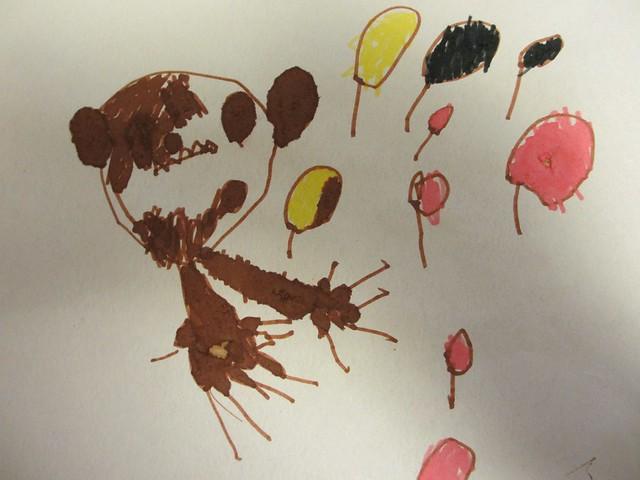 Ava har ritat Viktor och höstlöv