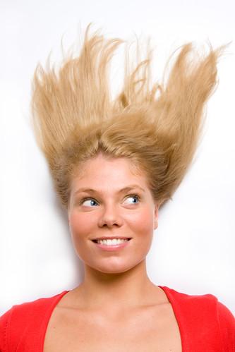Portrait of surprised pretty woman