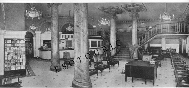 King Edward Lobby circa 1920 from our map watermark