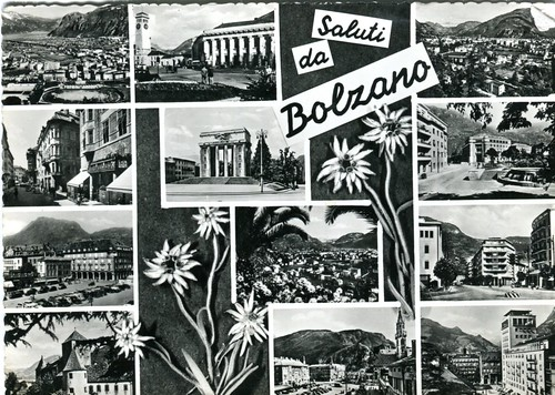 postcard - bolzano - vedutine - 1961