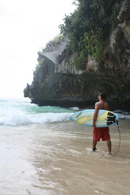 Entering Surf at Uluwatu, Bali
