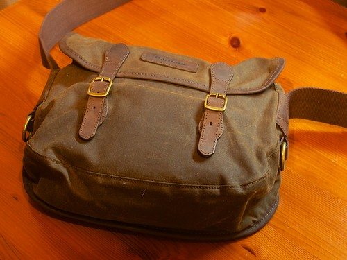 Barbour Waxed Cotton Bag