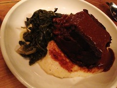 Brooklyn Brewery Chocolate Stout Short Ribs with Parmesean Cheese Grits and Braised Collards - City Grit