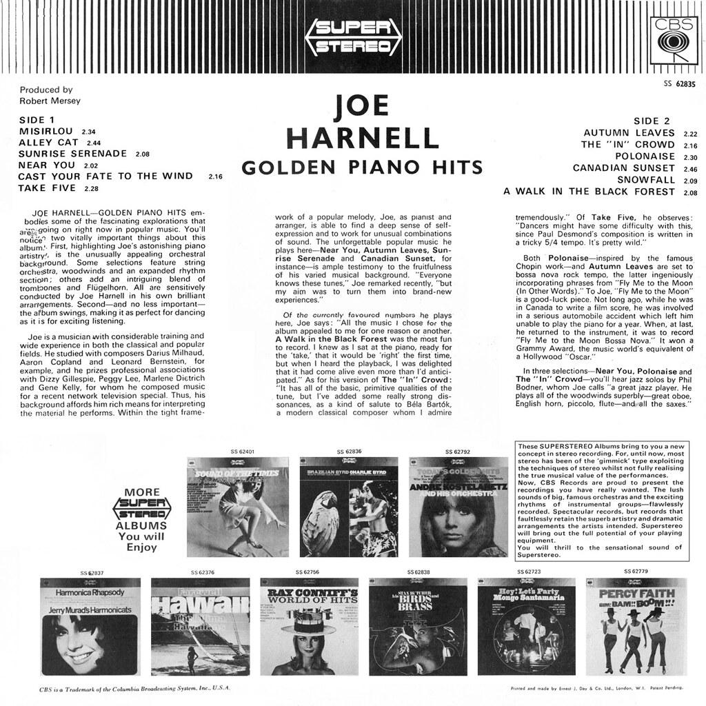 Joe Harnell - Golden Piano Hits