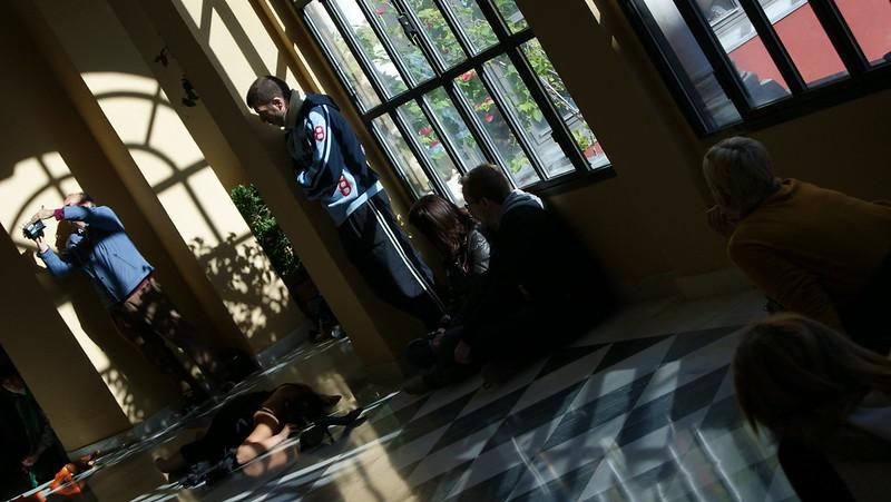Teatro realizado por estudiantes de la ESAD debido al día Internacional contra el maltrato machista -25 de noviembre-