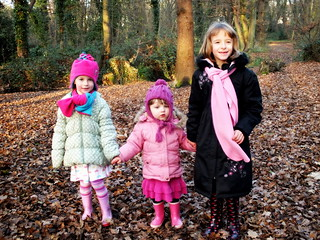 Amber, Izzy and Millie in Bexley Park Woods