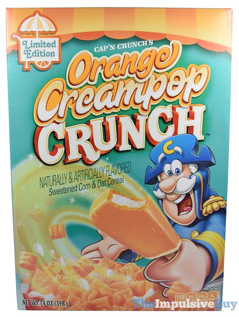 Limited Edition Cap'n Crunch's Orange Creampop Crunch Cereal