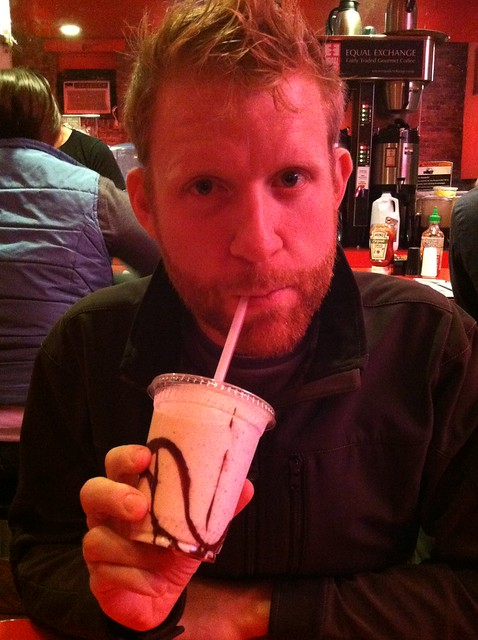 OMG. Cookie dough shake. And that guy.