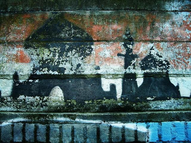 Oude graffiti