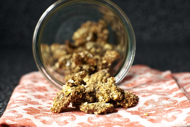 granola crusted walnuts and pecans