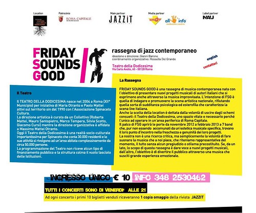FRIDAY SOUNDS GOOD - shot del sito web by cristiana.piraino