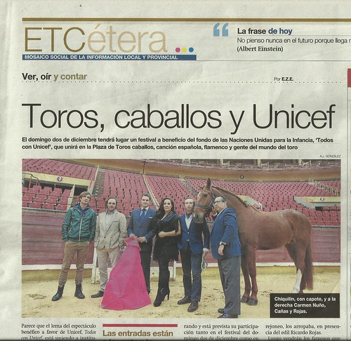 Toros, caballos y UNICEF.
