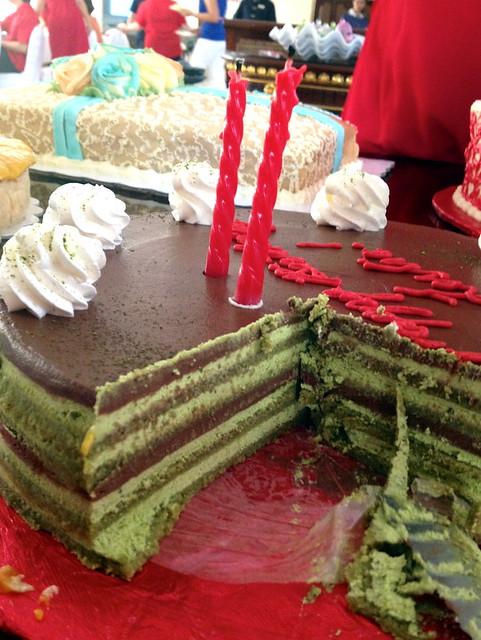 Karen's Kitchen green tea layer cake