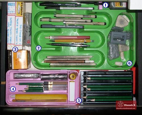 ORGANIZADOR - Gaveta de Material de Desenho by Dianah B.