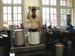 Ai Weiwei in a big pot