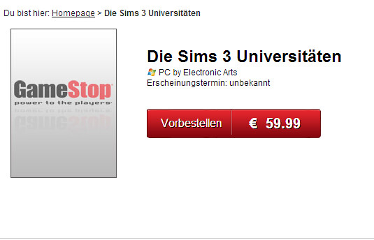 Die Sims 3 Universitäten - GameStop.de- Power to the Players