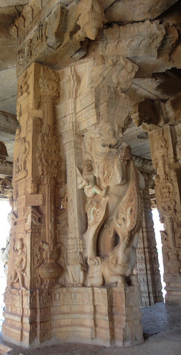 Yali carvings at Vittala temple in Hampi