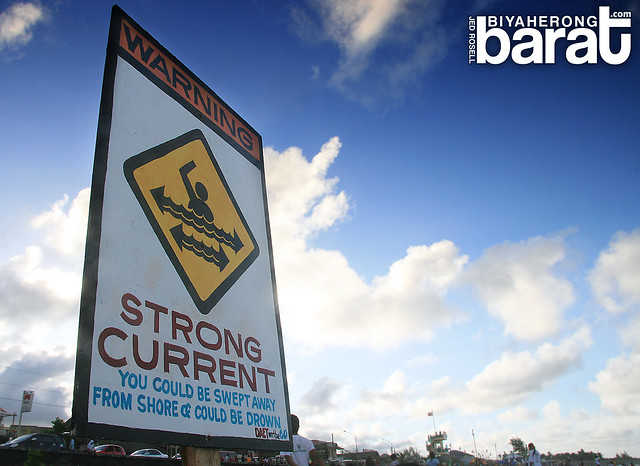 Warning Strong Current Bagasbas Beach Camarines Norte