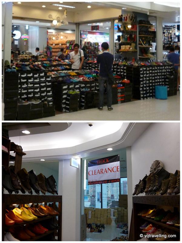Shoe stalls at Platinum Mall