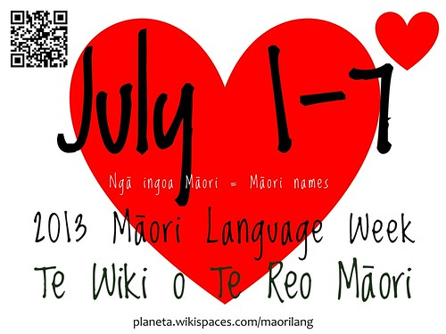 2013 Maori Language Week: July 1-7