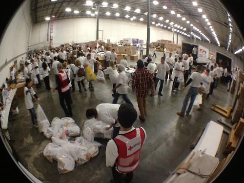 Sandy - Jersey City preparing bulk distribution supplies