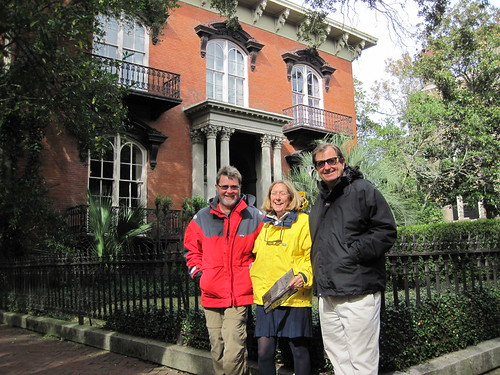 Skip, Pam and Bob in Savannah