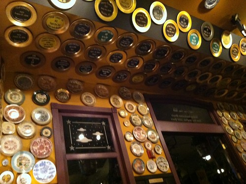 The Flying Saucer: wall of plates