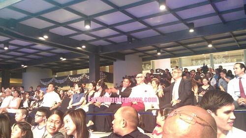 VIP section, the Ayalas, Zobel, Aquino , Araneta and Binay