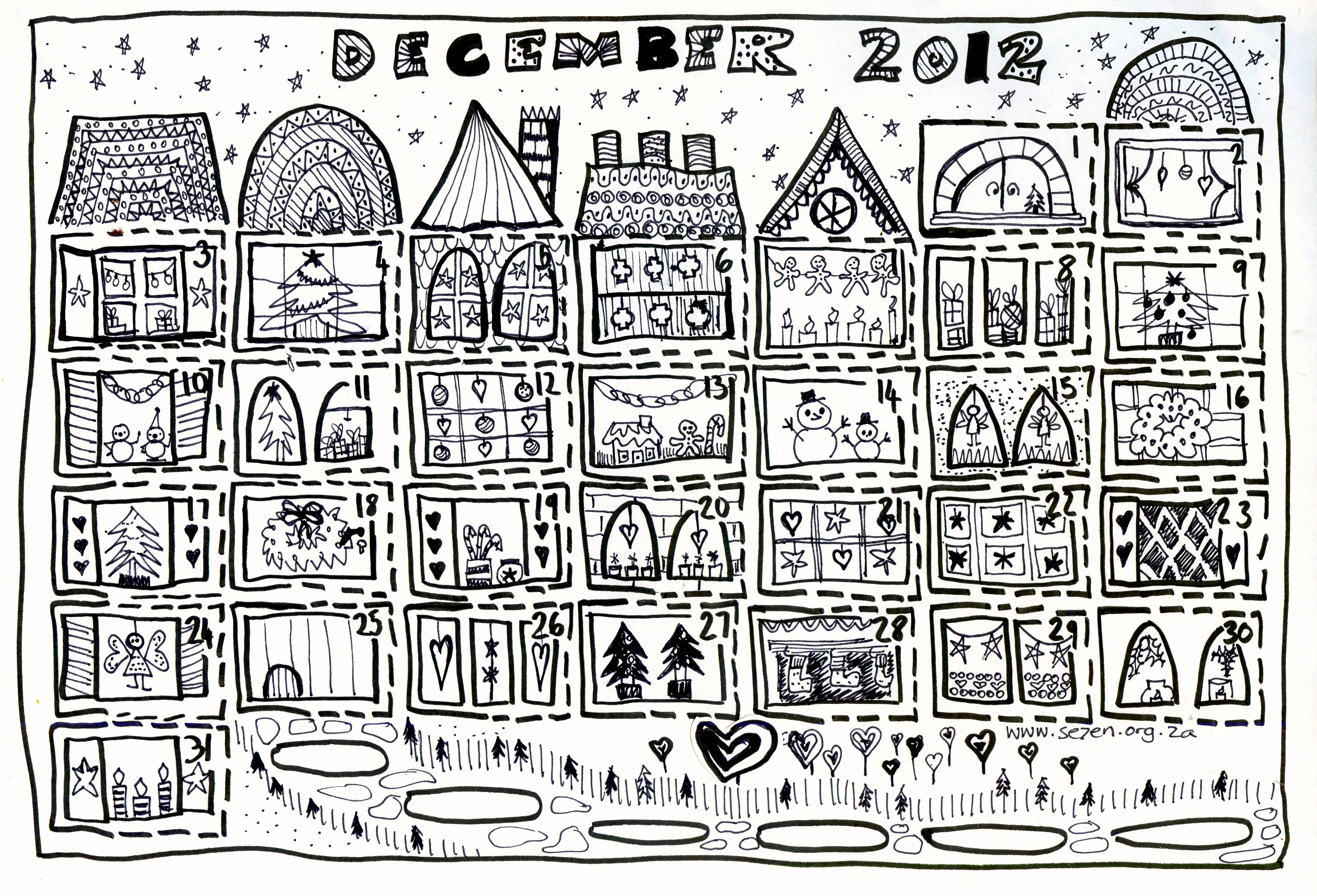 Se7en S December And Free Printable Advent Calendar Se7en