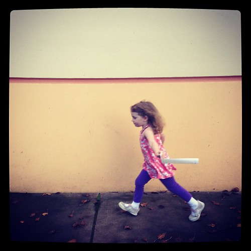 """""""Run like the wind, True Princess! We can't stop til the day is done!"""" #mydaughter #ilovemyfamily #yesmydaughteriswearingatanktopin46degreeweather #donthate"""