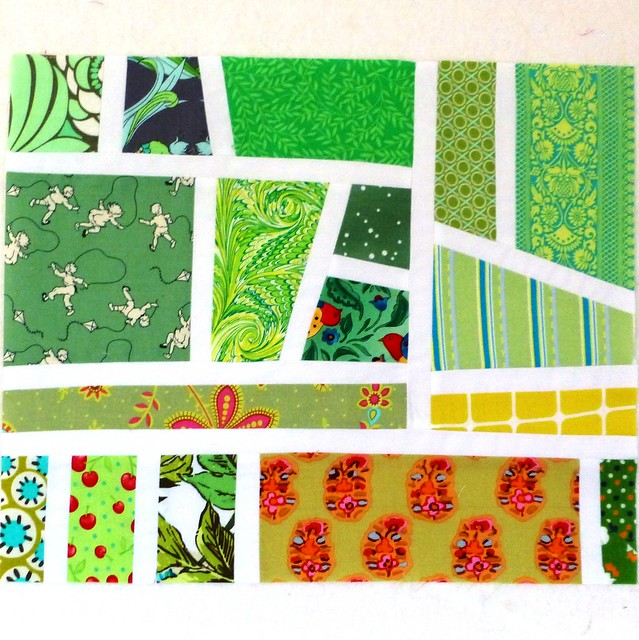 Sew Bee Happy Mosaic block Nov12
