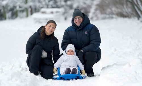 Crown Princess Victoria, Princess Estelle and Prince Daniel