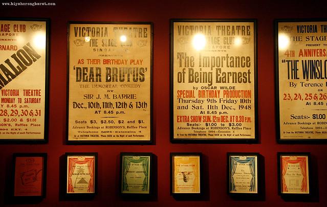 Victoria Theatre Posters 1948 in Peranakan Museum